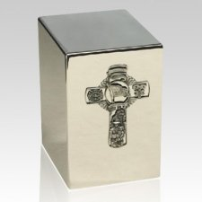 Fire Fighter Silver Cremation Urn