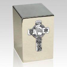 Police Silver Cremation Urn