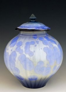Light Blue Art Cremation Urn