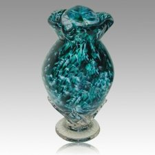 Jungle Fever Glass Cremation Urn