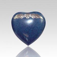 Avalon Blue Heart Pet Urn
