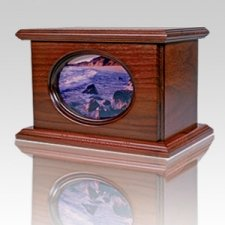 Ceramic Picture Landscape Cremation Urn