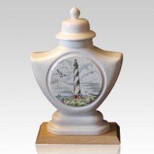 Lighthouse Ceramic Cremation Urn