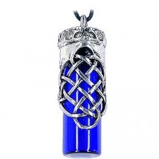 Love Blue Cremation Urn Necklace
