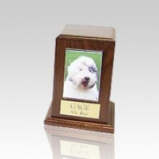 Walnut Tower Photo Pet Cremation Urn