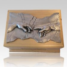 Close to God Maple & Silver Cremation Urn