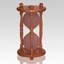 Hourglass Pillar Maple Pet Urn