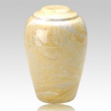 Grecian Gold Marble Cremation Urn II