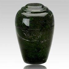Grecian Verde Marble Cremation Urn II