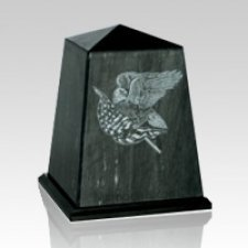 Obelisk Black Children Cremation Urn