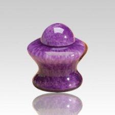 Pet Purple Glass Urn