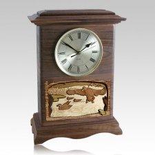 Marshland Clock Walnut Cremation Urn