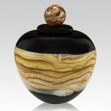 Memoriam Black Large Art Urn
