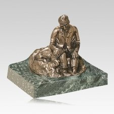 Man Resting Keepsake Cremation Urn