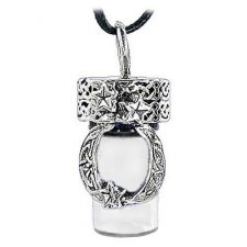 Moon Cremation Urn Necklace
