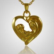 Mother & Child Heart Keepsake Pendant II