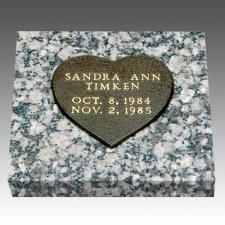 Baby Bronze Grave Marker