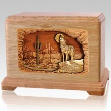Desert Moon Oak Cremation Urn For Two