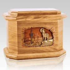 Desert Moon Oak Octagon Cremation Urn