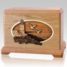 Sea Coast Oak Cremation Urn For Two