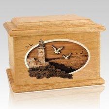 Sea Coast Oak Memory Chest Cremation Urn