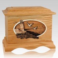 Sea Coast Oak Cremation Urn