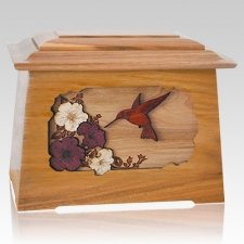 Hummingbird Oak Aristocrat Cremation Urn