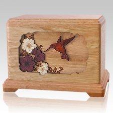 Hummingbird Oak Hampton Cremation Urn
