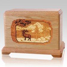 Elk Oak Hampton Cremation Urn