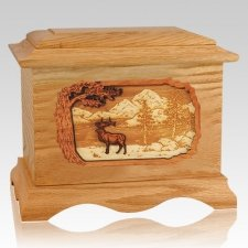 Elk Oak Cremation Urn