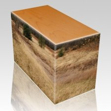 Hunting Grounds Oak Child Cremation Urn III