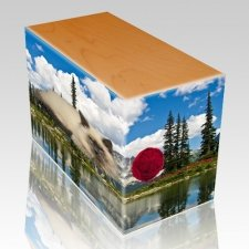 Pine Lake Oak Pet Picture Urn III