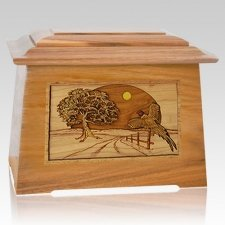 Pheasant Oak Aristocrat Cremation Urn