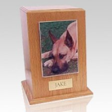 Oak Tower Photo Pet Cremation Urn III