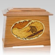 Surfer Oak Aristocrat Cremation Urn