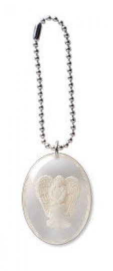 Courage Angel Stone on a Chain
