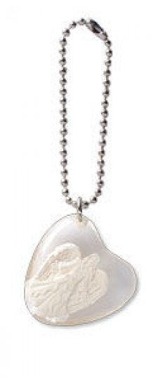 Heart Angel Stone on a Chain