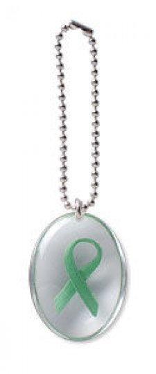 Green Ribbon Stone on a Chain