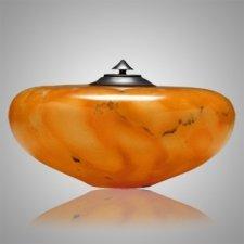 Winds Orange Alabaster Cremation Urn