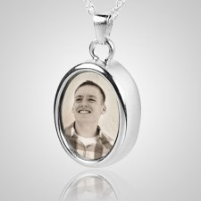 Oval Picture Cremation Pendant III