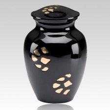 Black Paw Print Cremation Urn
