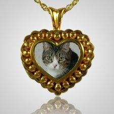 Pearl Photo Heart Cremation Jewelry II