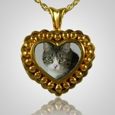 Pearl Photo Heart Cremation Jewelry IV