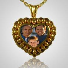 Pearl Photo Heart Cremation Keepsake IV