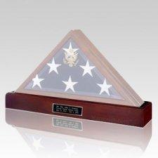Flag Case Cherry Pedestal with Urn