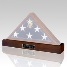 Flag Case Walnut Pedestal with Urn