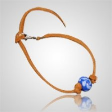 Blue Swirl Memory Bead Ash Bracelet