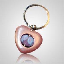 Pink Heart Cremation Keychain