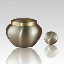 Paw Print Bronze Medium Pet Urn