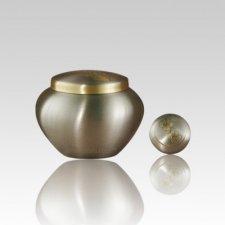 Paw Print Bronze Small Pet Urn